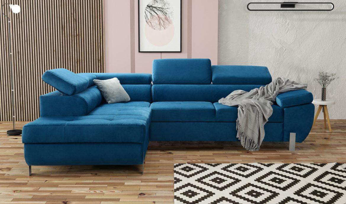 niebieski narożnik Annabelle Modern